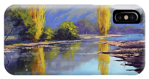 Road Signs iPhone Case - Tumut River Poplars by Graham Gercken