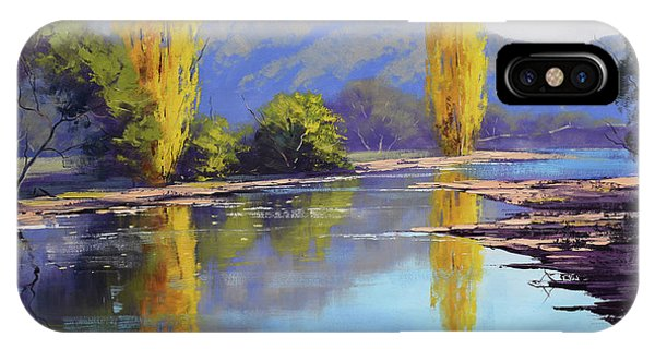 Tumut River Poplars IPhone Case