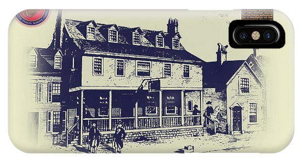 Tun Tavern - Birthplace Of The Marine Corps IPhone Case