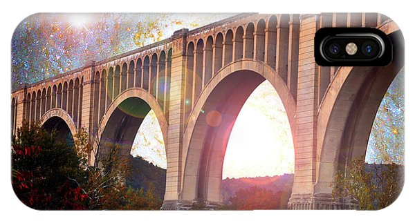 Tunkhannock Viaduct, Nicholson Bridge, Starry Night Fantasy IPhone Case