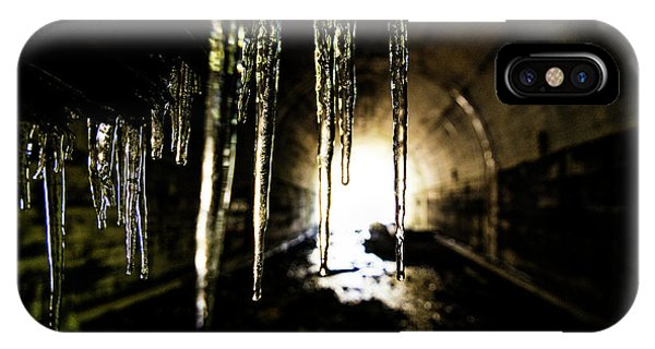 Dungeon iPhone Case - Tunnel Icicles by Pelo Blanco Photo