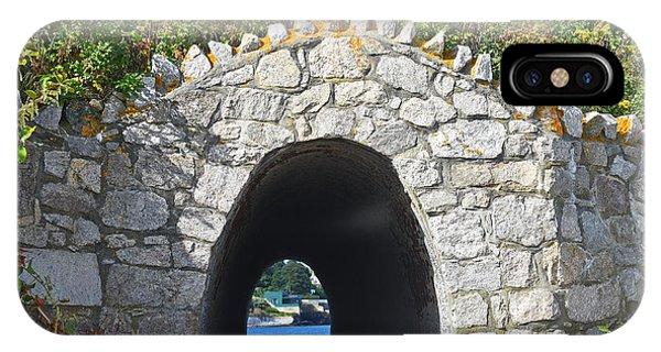 Tunnel To The Sea Newport Ri Cliff Walk IPhone Case
