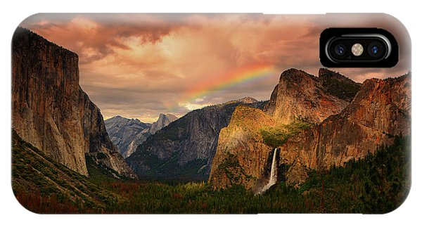Tunnel View Rainbow IPhone Case