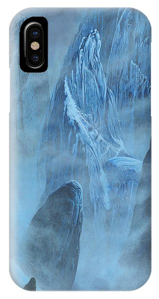IPhone Case featuring the painting Tuor And Voronwe Approach Gondolin by Kip Rasmussen