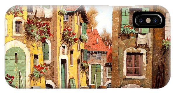 Village iPhone Case - Tuorlo by Guido Borelli