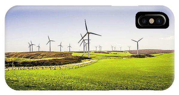 Energy iPhone Case - Turbine Fields by Jorgo Photography - Wall Art Gallery