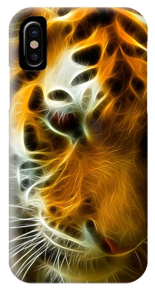 Fractal iPhone X Case - Turbulent Tiger by Ricky Barnard