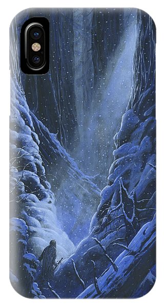 IPhone Case featuring the painting Turin Approaches The Pool Of Ivrin by Kip Rasmussen