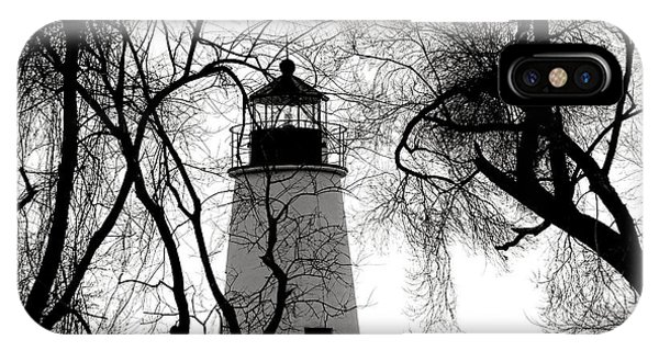 Navigation iPhone Case - Turkey Point Lighthouse by Olivier Le Queinec
