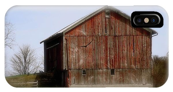 Turkey Vultures Hovering Around The Barn IPhone Case
