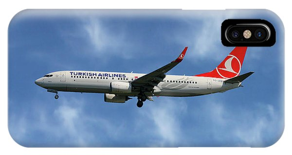 Airline iPhone Case - Turkish Airlines Boeing 737-8f2 by Smart Aviation