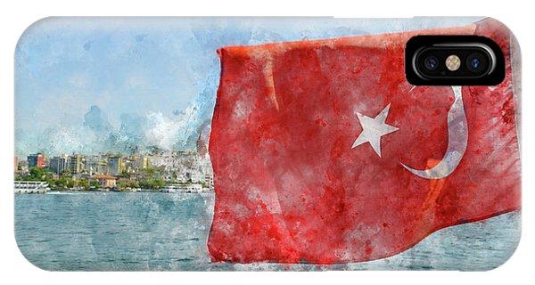 Turkish Flag IPhone Case
