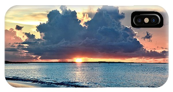 Turks And Caicos Grace Bay Beach Sunset IPhone Case