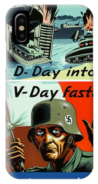 Germany iPhone Case - Turn D-day Into V-day Faster  by War Is Hell Store