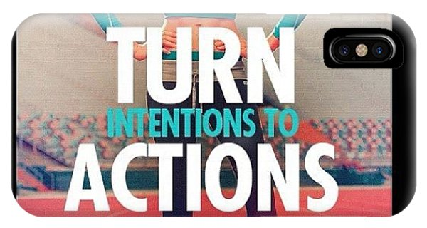 Workout iPhone Case - Turn Intention Into Actions 💪❤👏 by Ashley Shine