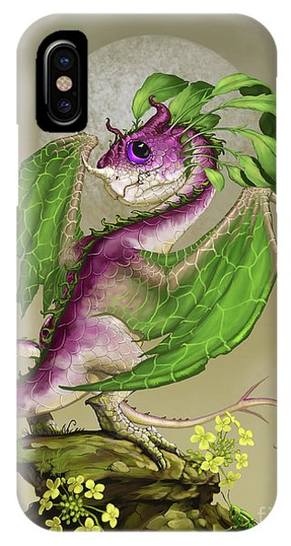 Cricket iPhone Case - Turnip Dragon by Stanley Morrison