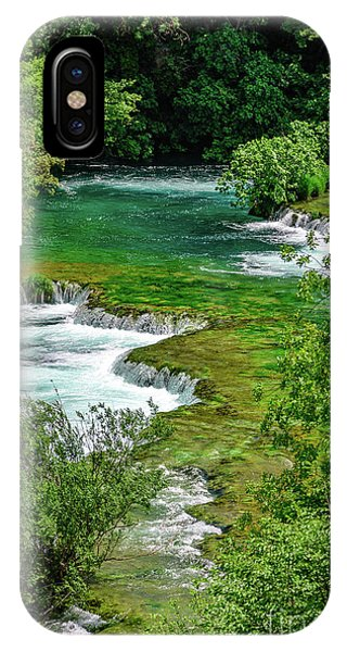 Turqouise Waterfalls Of Skradinski Buk At Krka National Park In Croatia IPhone Case