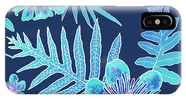 Turquoise Batik - Laua'e 12 IPhone Case