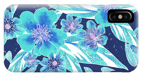 Turquoise Batik Tile 2 - Bidens IPhone Case