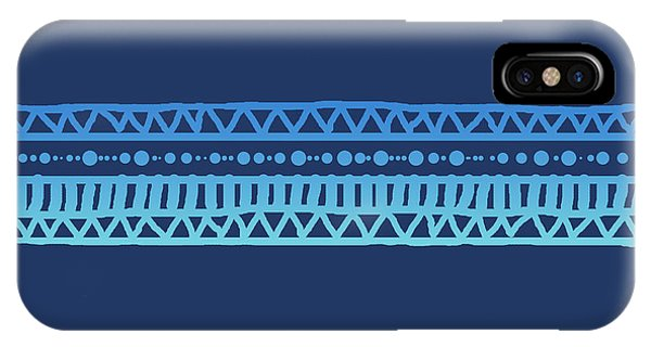 Turquoise Batik Tribal Stripe IPhone Case