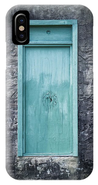 Turquoise Door IPhone Case
