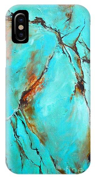 Turquoise Impression IPhone Case