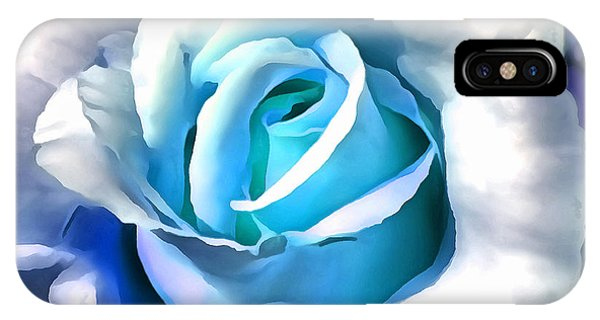 Turquoise Rose IPhone Case