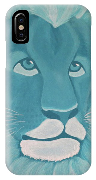 Turquoise Lion IPhone Case