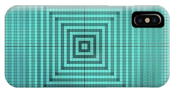 iPhone Case - Turquoise Square by Lisa Marie Towne