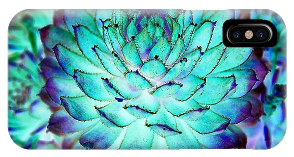IPhone Case featuring the photograph Turquoise Succulent 2 by Marianne Dow
