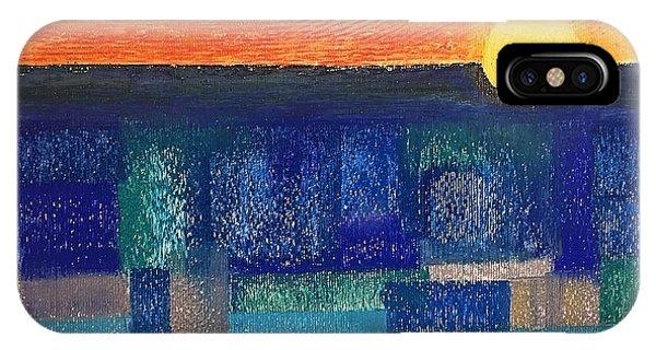 Turquoise Sunset IPhone Case