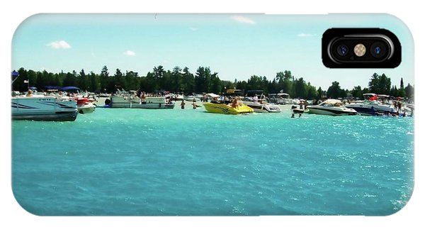 Turquoise Waters At The Torch Lake Sandbar IPhone Case