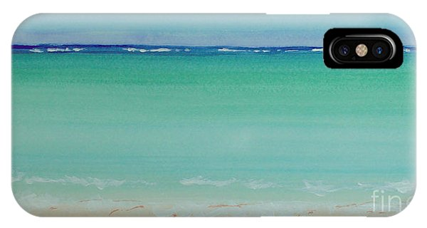 Turquoise Waters Long Abstract IPhone Case