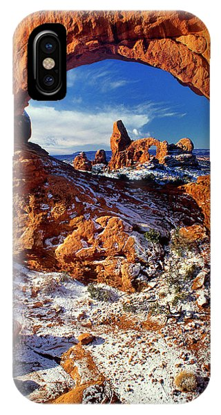 IPhone Case featuring the photograph Turret Arch Through North Window Arches National Park Utah by Dave Welling