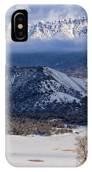 IPhone Case featuring the photograph Turret Ridge In Winter by Denise Bush