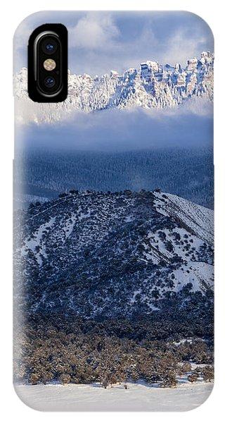 Turret Ridge In Winter IPhone Case