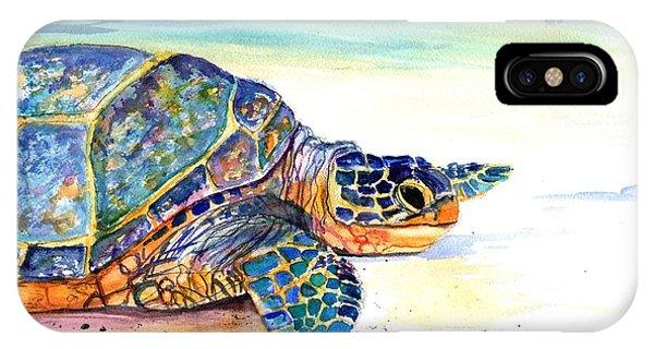 Turtle At Poipu Beach 2 IPhone Case