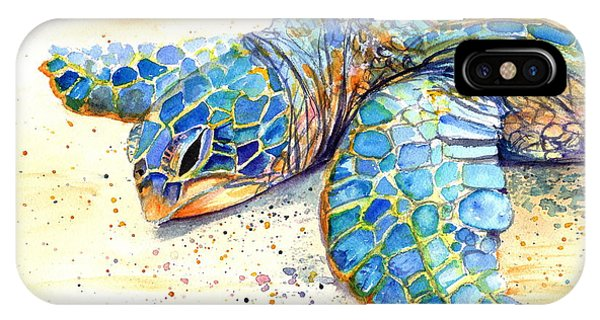 Turtle At Poipu Beach 4 IPhone Case
