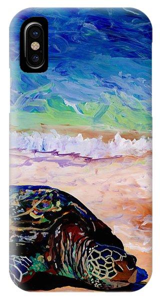 Turtle At Poipu Beach 9 IPhone Case