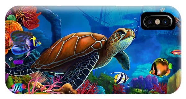 Reef iPhone Case - Turtle Domain by MGL Meiklejohn Graphics Licensing