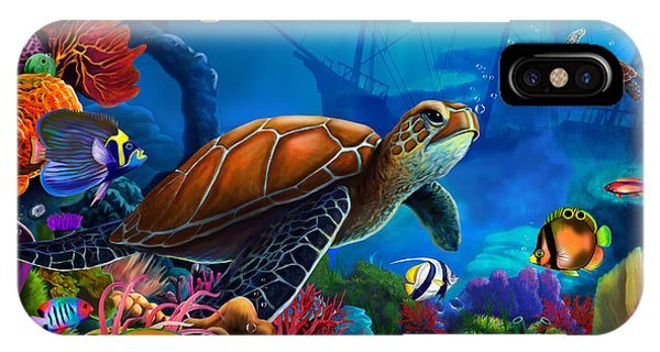 Reef Diving iPhone Case - Turtle Domain by MGL Meiklejohn Graphics Licensing