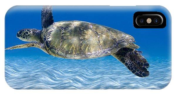 Oahu Hawaii iPhone Case - Turtle Flight -  Part 2 Of 3  by Sean Davey