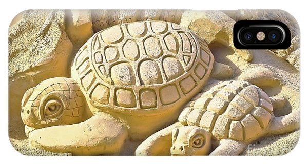 Turtle Sand Castle Sculpture On The Beach 999 IPhone Case