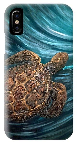 Turtle Wave Deep Blue IPhone Case