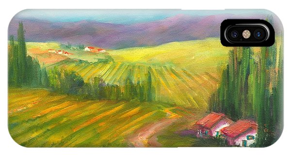 Tuscan Fields Phone Case by Sally Seago