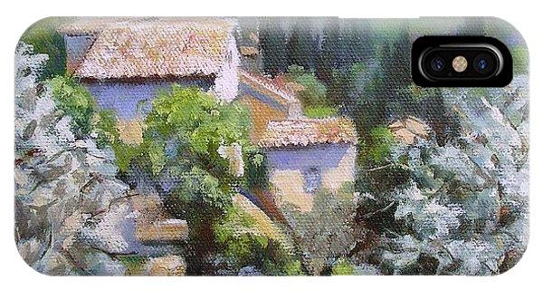 Tuscan  Hilltop Village IPhone Case