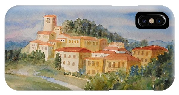 Tuscan Hilltop Village IPhone Case