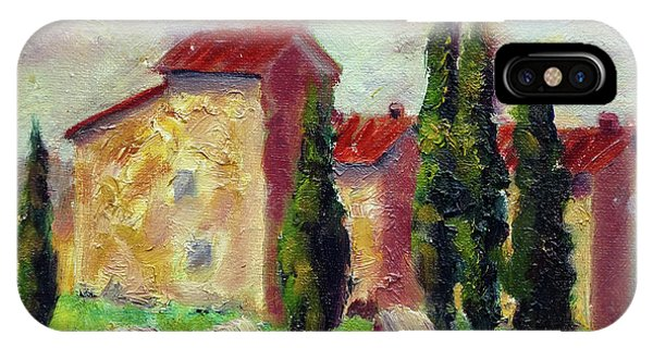 Tuscan House With Hay IPhone Case