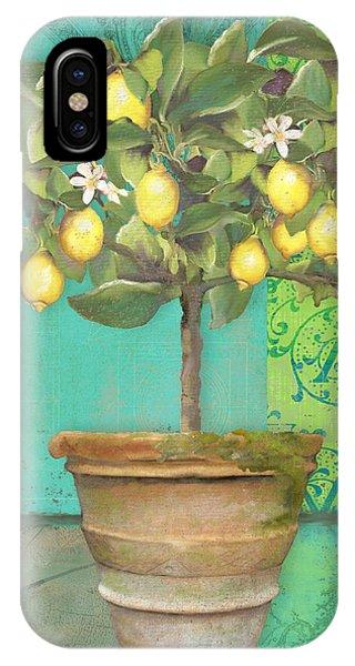 Tuscan Lemon Topiary - Damask Pattern 1 IPhone Case