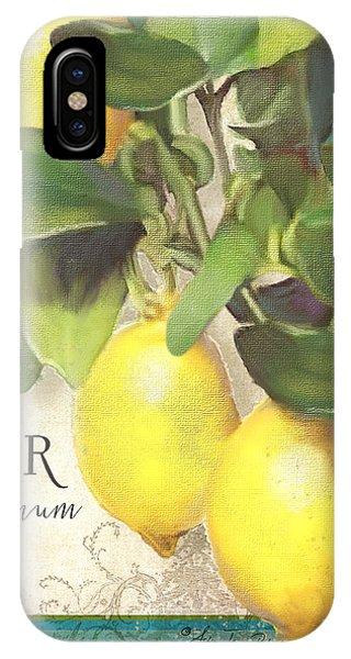 Tuscan Lemon Tree - Citronier Citrus Limonum Vintage Style IPhone Case